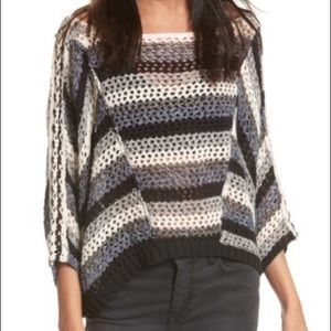 Free People Pearl Searching Linen Blend Sweater